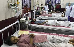 india: 55 students taken to hospital, school evacuated after ammonia gas leak