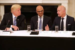 Trump Targets Amazon Over Sales Tax and Retail Jobs