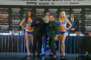 snoozefest! mayweather vs. mcgregor press conference in vegas was ... pretty boring