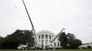 white house gets the builders in for renovations