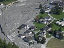 remote swiss town hit by second mudslide