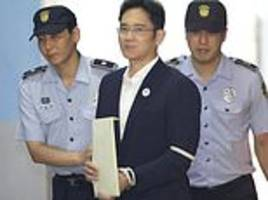 samsung heir jailed for five years for bribery