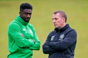 kolo toure returns to celtic but what is he doing at lennoxtown?
