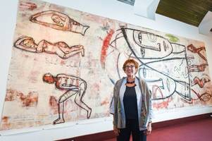 talented ayrshire artist will have berlin wall painting shown off at gallery in ayr in stunning display