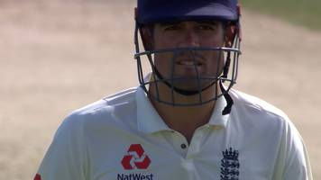 west indies make breakthrough as cook is out for 23