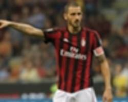 bonucci: ac milan growing but still behind juve and napoli