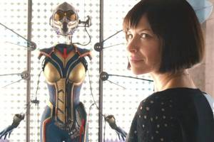 first look: evangeline lilly as the wasp from 'ant-man and the wasp' (photo)