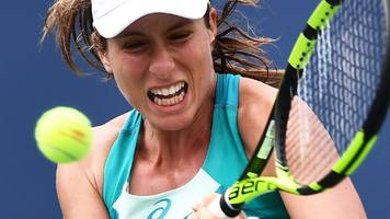 us open 2017: johanna konta knocked out by aleksandra krunic in first round