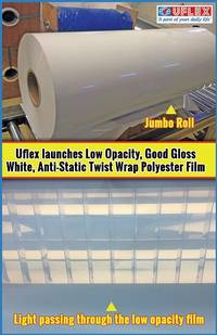 Uflex Launches Low Opacity, Good Gloss White, Anti-static Twist Wrap Polyester Film