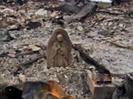virgin mary statue survives fire and hurricane in texas