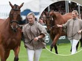 zara tindall's horse has vet inspection ahead of trials
