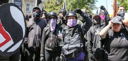 bloomberg jumps on the 'antifa'-bashing bandwagon more in common with nazis than american ideals