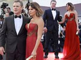 matt damon and wife luciana kick off venice film festival