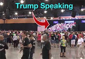 the real crowd size at trump's phoenix rally