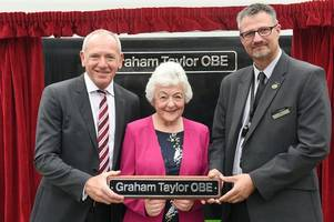 scunthorpe's graham taylor has train named after him