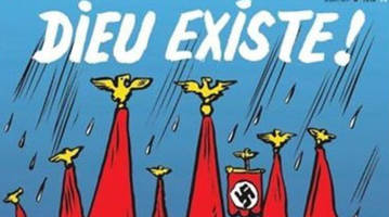 france's charlie hebdo magazine: god drowned all the neo-nazis in texas