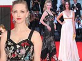amanda seyfried stuns at venice first reformed screening