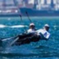 alex maloney and molly meech hold lead at 49erfx world championships