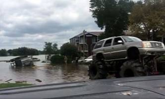 hurricane harvey finally gives monster trucks a purpose