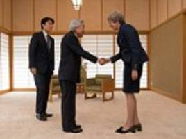 may ends japan trip by meeting emperor and basketball game