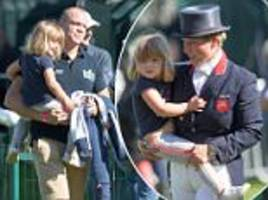 mia and mike tindall cheer on zara at the burghley horse