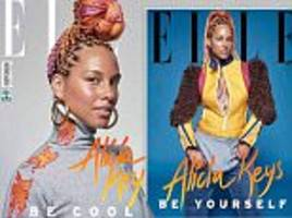 alicia keys shows off multi-colored braids for elle brazil