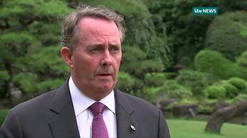 liam fox warns eu not to 'blackmail' uk over exit bill