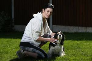 carlton mum and her pet attacked by two dogs in her own back yard