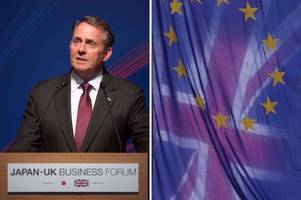 liam fox brexit warning as he tells brussels not to blackmail britain