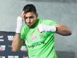 amir khan ends the feud with his family and anthony joshua