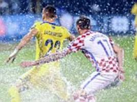 croatia and kosovo resume world cup qualifier after rain