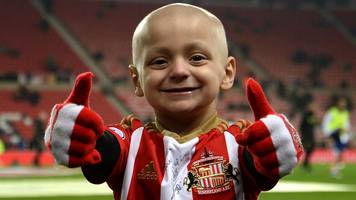 bradley lowery: charity football match at everton's goodison park