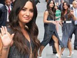 demi lovato shows off her seriously toned legs in nyc