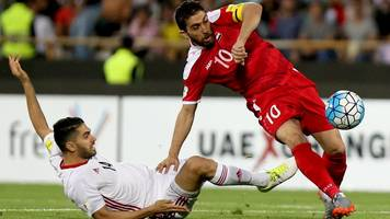 syria draw in iran to claim world cup play-off spot