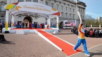 commonwealth games: queen's baton relay wales leg starts