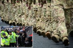 four serving british army soldiers held on suspicion of neo-nazi terror links