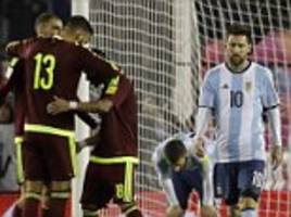 argentina 1-1 venezuela: world cup hopes in the balance