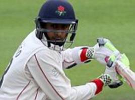 haseeb hameed scores 85 to guide lancashire out of trouble