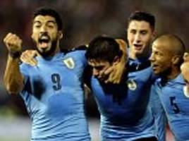 paraguay 1-2 uruguay:away side on brink of world cup spot