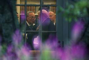 this photo of trump and schumer gives a behind-the-scenes look at the meeting that reportedly left gop leaders furious