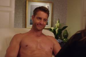 justin hartley does amazing things with his butt-crack in new 'bad moms christmas' trailer (video)