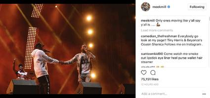 "meek mill reminds us jay-z's up on his grind: ""only ones moving like y'all say y'all is…"""