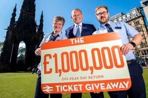how to get free scotrail journeys in £1million ticket giveaway - but you need to be fast