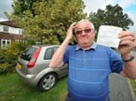 stafford pensioner's row over parking outside his home