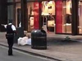 explosion on oxford street leaves at least one injured