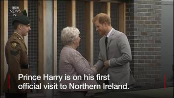 prince harry makes his first official visit to northern ireland.