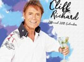 cliff richard back to his vest aged 76 in 2018 calendar
