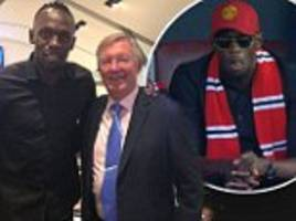 usain bolt plans to train to become manchester united star