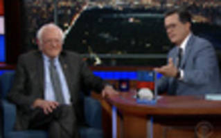 Video: Bernie Sanders Responds To Hillary Clinton's Book Jabs On Colbert