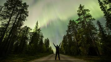 sky lit up by aurora after 'strongest flare in decades'